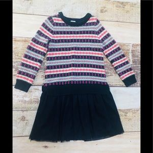 Baby Gap sweater dress with tulle skirt size 4T